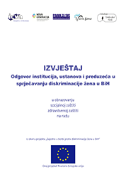 Odgovor institucija, ustanova i preduzeća u sprečavanju diskriminacije žena u BiH