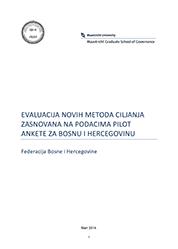 Evaluacija novih metoda ciljanja zasnovana na podacima pilot ankete za BiH