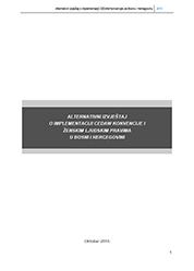 Alternativni izvještaj o primjeni CEDAW Konvencije i ženskim ljudskim pravima u BiH