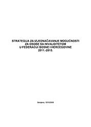 Strategija za izjednačavanje mogućnosti za osobe sa invaliditetom u BiH