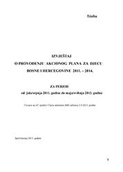 Izvještaj o provođenju akcionog plana za djecu BiH 2011-2014
