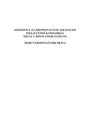Smjernice za prepoznavanje socijalno isključene djece u BiH