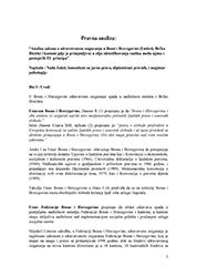 Analiza zakona o zdravstvenom osiguranju u BiH