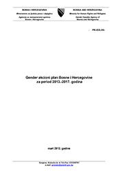 Gender Akcioni plan BiH 2013-2017