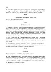 Zakon o lijekovima i medicinskim sredstvima BiH