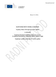 EU Izvještaj o Bosni i Hercegovini za 2016. godinu