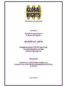 Izvještaj u sjeni – O implementaciji CEDAW konvencije i ženskim ljudskim pravima u BiH