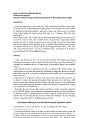 Report for the Universal Periodic Review 2014